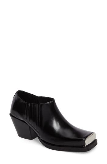 Jeffrey Campbell Reynoso Square Toe Bootie- Black