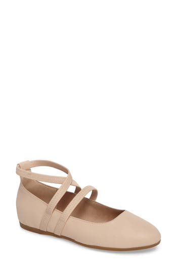 Eileen Fisher Joe Strappy Ballet Flat, Brown