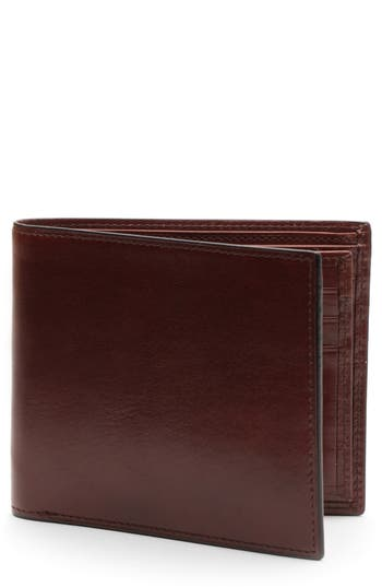 Bosca Aged Leather Executive Rifd Wallet - Brown