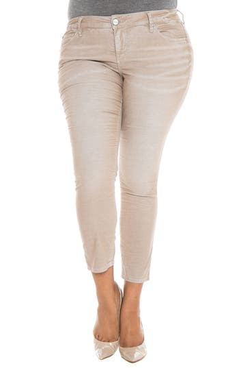 Stretch Corduroy Cropped Skinny Pants