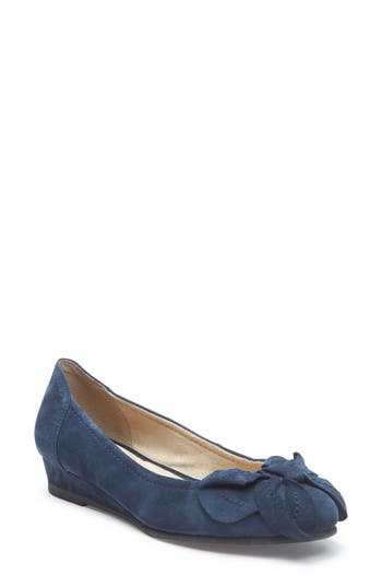 Me Too Martina Bow Ballet Wedge- Blue