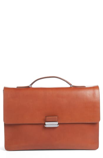 Cole Haan Leather Briefcase - Brown