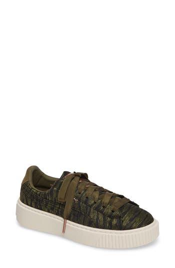 Puma Basket Platform Sneaker, Green