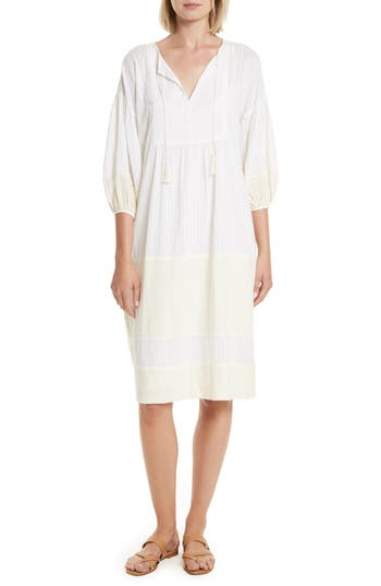 The Great. The Panel Tunic Dress, Ivory