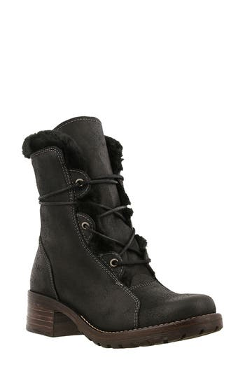 Taos Furkle Boot With Faux Fur Trim, Black