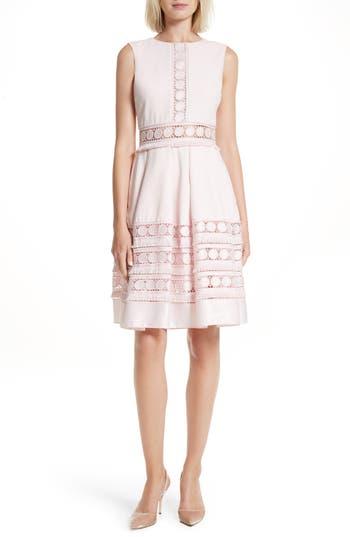 Ted Baker London Olym Contrast Trim Dress, Pink