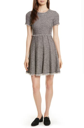 Rebecca Taylor Stretch Tweed Dress, Beige