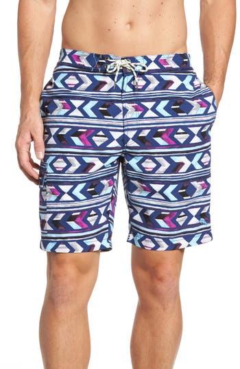 Tommy Bahama Baja Aloha Arrow Board Shorts, Blue