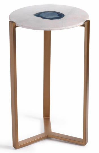 Zodax Caspian Agate  Marble Accent Table