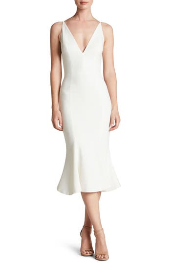 Dress The Population Isabelle Crepe Mermaid Dress, Ivory