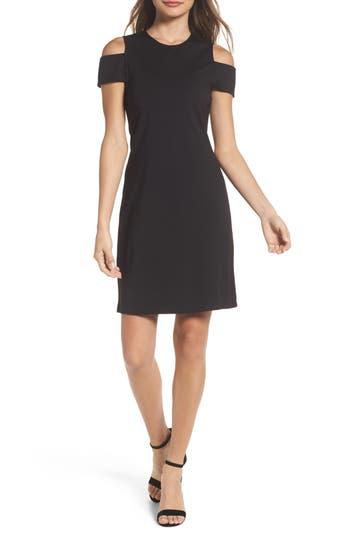 Bb Dakota Cold Shoulder Sheath Dress, Black