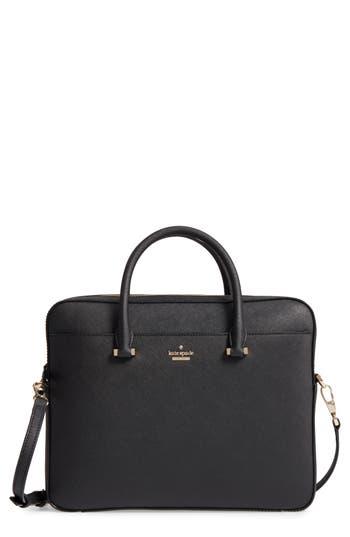 Kate Spade New York Saffiano Leather Laptop Bag - Black