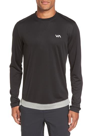 Rvca Runner Mesh Long Sleeve T-Shirt, Black