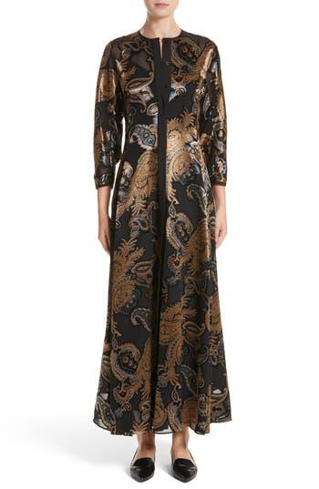 Lafayette 148 New York Cadenza Renaissance Paisley Devore Dress