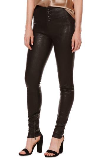 Women's Rosie Hw X Paige Ellery Ankle Zip Leather Pants