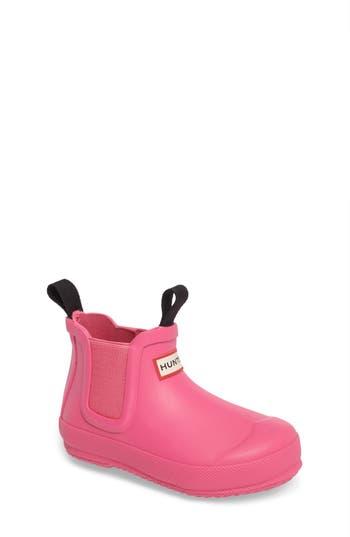 Toddler Hunter Original Waterproof Chelsea Boot, Size 11 M - Pink