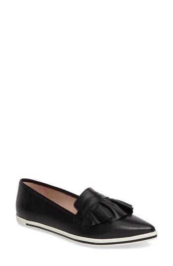 Women's James Chan Taraji Ruffle Slip-On Sneaker, Size 6 M - Black
