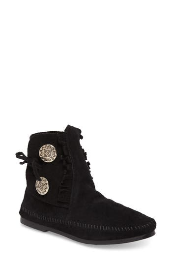 Women's Minnetonka Two-Button Hardsole Bootie at NORDSTROM.com