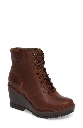 Timberland Kellis Wedge Lace-Up Boot, Brown