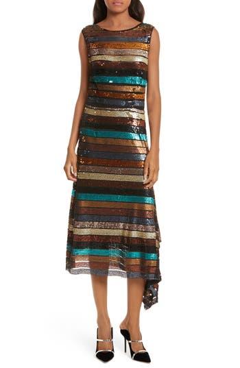Tracy Reese Flange Midi Dress, Brown