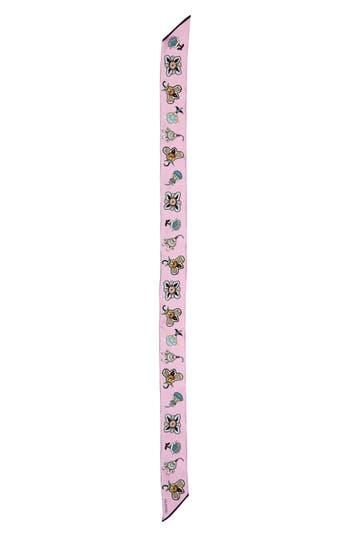 Women's Valentino Pop Flower Skinny Silk Scarf