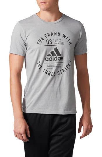 Adidas Badge Of Sport Graphic Training T-Shirt, Grey