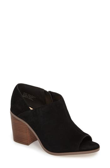 Sole Society Arroyo Peep Toe Bootie- Black
