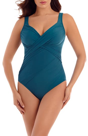 Miraclesuit New Revelations One-Piece Swimsuit, Blue