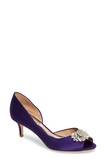Badgley Mischka Macie Peep Toe D-Orsay Pump, Purple