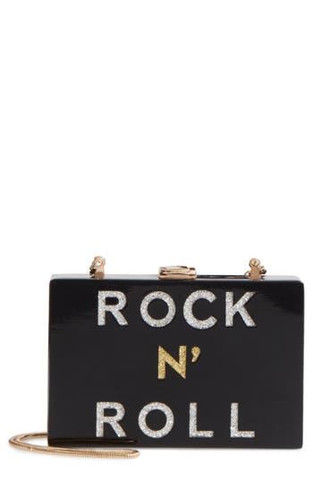 Milly Rock 'N' Rock Box Clutch - Black