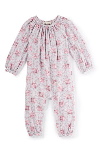 Infant Girls Peek Medallion Print Romper