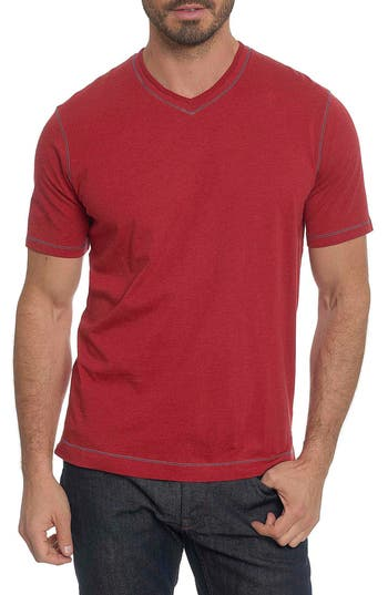 Robert Graham Traveler V-Neck T-Shirt, Red
