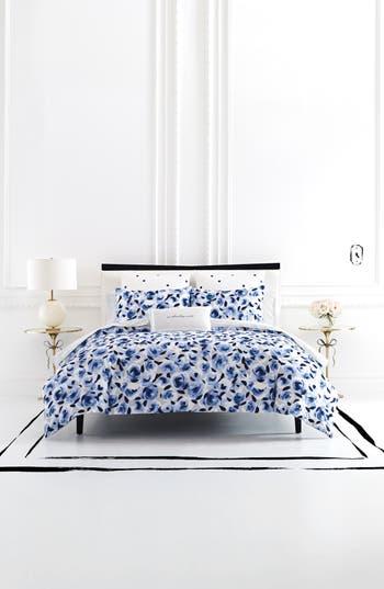 Kate Spade New York Garden Rose Duvet Cover & Sham Set, Size Full/Queen - Blue