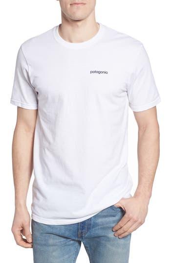 Patagonia Line Regular Fit Logo T-Shirt, White