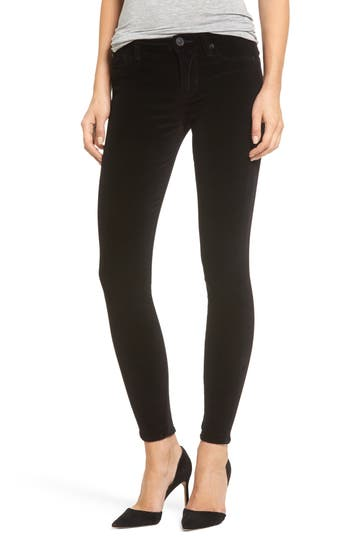 Hudson Jeans Barbara High Waist Ankle Super Skinny Jeans, 7 - Black