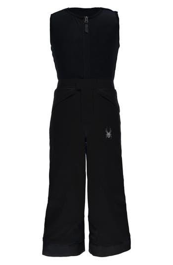 Boy's Spyder Mini Expedition Waterproof Snow Pants With Fleece Vest, Size 4 - Black