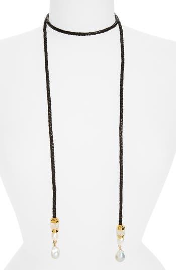 Women's Lizzie Fortunato Safari Pearl Lariat Necklace