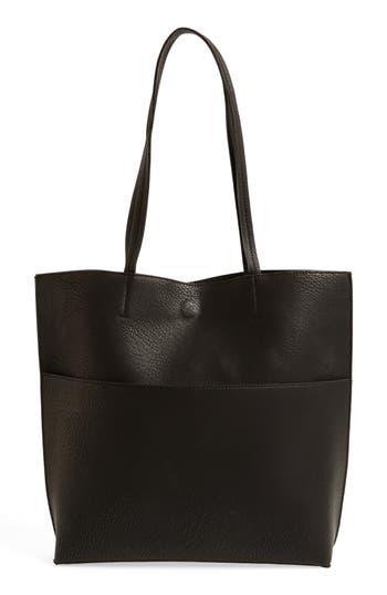 Street Level Faux Leather Tote & Tassel Clutch -