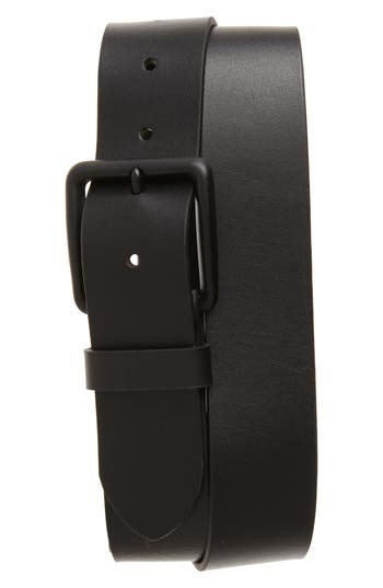 Big & Tall 1901 Garrett Leather Belt, Black