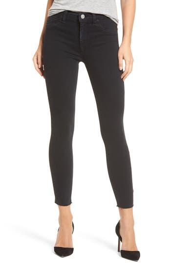 Hudson Jeans Barbara High Waist Ankle Skinny Jeans, Black