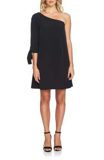 Cece Sophia One-Shoulder Shift Dress, Black
