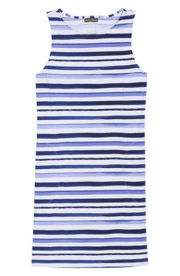 Tommy Bahama Pansey Petals Cover-Up Tank Dress, White