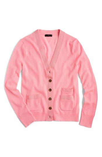J.crew Harlow Merino Wool Cardigan, Pink