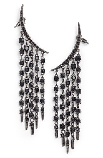 Women's Oscar De La Renta Tendril Crystal Earrings
