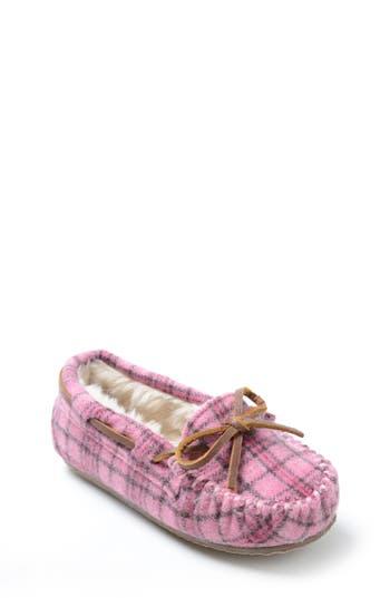 Girls Minnetonka Cassie Slipper Size 4 M  Pink