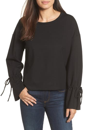 Halogen Cinch Cuff Sweatshirt