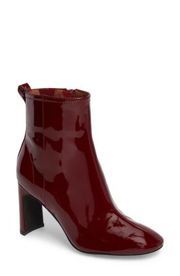 Jeffrey Campbell Chapel Curved Heel Bootie- Burgundy