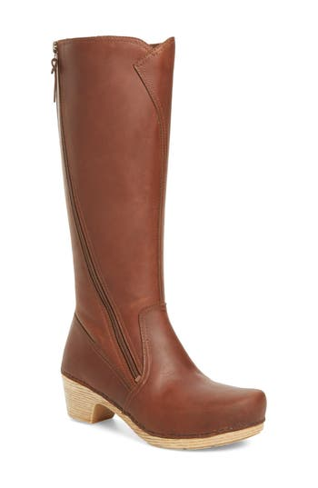 Dansko Martha Tall Boot-7- Brown