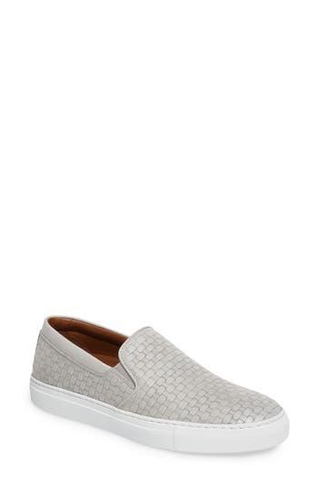Aquatalia Ashlynn Embossed Slip-On Sneaker, Grey