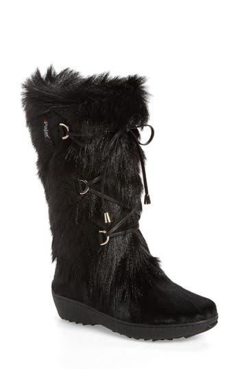 Pajar Davos Genuine Goat Fur Boot, Black